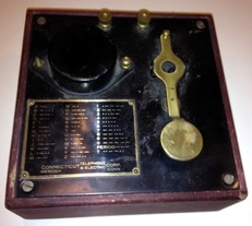 Connecticut Telegraph and Electric Company Practice Key and Buzzer: