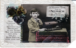 Boy with Telegraph Postcard