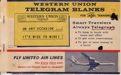 Western Union Telegraph Blanks